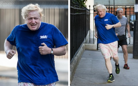 boris johson runs